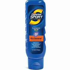 Coppertone Sport Lotion SPF 30 Sunscreen-4 oz by Coppertone. $7.89. Provides full UVA/UVB protection. Oil free; hypoallergenic; waterproof; PABA-free. High-performance, sweat-proof sunscreen bonds to your skin on contact; won't run into your eyes. Ultra-dry formula doesn't leave a greasy residue that could affect your grip. Coppertone Sport Lotion SPF 30 SunscreenCoppertone Sport Sunblock is equipment for your skin.This high performance, ultra sweatproof sunscreen bon...