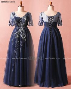 10% off now Custom Navy Blue Formal Party Dress Vneck with Short Sleeves High Quality at GemGrace. Click to learn our pro custom-made service for wedding dress, formal dress. View Plus Size Prom Dresses for more ideas. Stable shipping world-wide. Mother Of The Bride Looks, Plus Size Prom Dresses, Affordable Dresses, Dress Formal, Custom Dresses, Dresses Online, Party Dress, Fashion Dresses, Navy Blue
