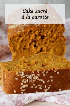 Un cake sucré à la carotte, idéal pour les goûters de ce début de printemps si particulier... Un Cake, Banana Bread, Desserts, Food, Sugar, Carrot, Tailgate Desserts, Meal, Dessert