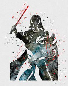 Darth Vader Watercolor Art