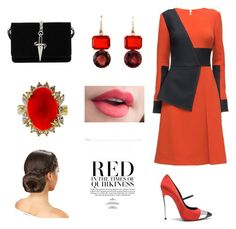 """Red"" by gloria-yi-qiao on Polyvore featuring Lattori, Casadei, Irene Neuwirth and Cesare Paciotti"