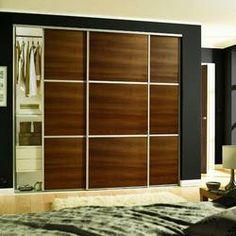 Walnut Panel Wideline 914mm - Sliding Wardrobe Doors - Sliding Wardrobe & Cabinet Doors -Doors & Windows - Wickes