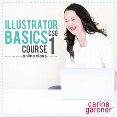 Snap Click Supply Co. - Illustrator Basics CS6 Course 1, $20.00 (http://www.snapclicksupply.com/illustrator-basics-cs6-course-1/)