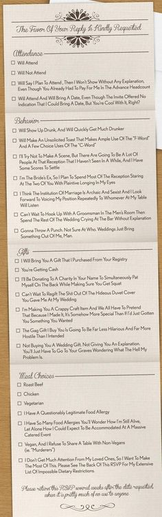 Now That's an Honest Invite - funny wedding invitation