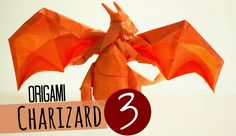 How to make an Origami Charizard (Tadashi Mori) Part 3 -Published on Apr 21, 2015 Tutorial on how to make an origami Charizard, by Tadashi Mori.  Support us at www.patreon.com/tadashimori Like my fanpage on Facebook to be the first to know what my next video will be! http://www.facebook.com/TadashiOrigami Diagrams and CPs: www.origamiyard.com