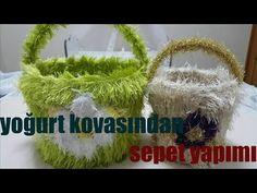 Penye ip ile oval sepet yapımı- (taban yapımı) -1 - YouTube