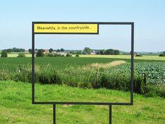 Niklaus Rüegg cadre et légende un village - Elliot Voysey Park Signage, Wayfinding Signage, Signage Design, Outdoor Signage, Outdoor Art, Environmental Graphics, Environmental Design, Landscape Art, Landscape Architecture