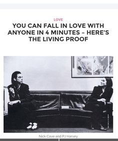 It was 1995 when singer songwriters Nick Cave and PJ Harvey met to film the video for best selling single Henry Lee. Their encounter was brief and they mutually admitted to love at first sight while shooting