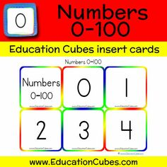 Numbers 0-100 Cubes, Education, Learning, Shopping, Studying, Study, Teaching
