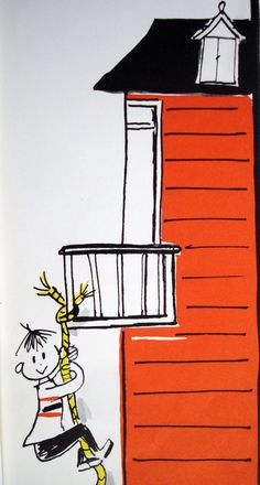 Upstairs and Downstairs by Ryerson Johnson, illustrated by Lisl Weil, 1962