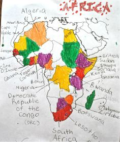 """As you read the distinct stories of kids in the divers countries of Africa, have your students/kids map them. """"Africa is NOT a Country"""" by Margy Burns Knight and Anne Sibley O'Brien."""