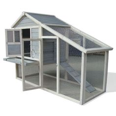 CHICKEN COOP & RUN HEN HOUSE POULTRY ARK HOME NEST BOX COUP COOPS RABBIT HUTCH + | eBay