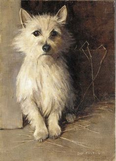 Samuel Fulton (British, 1855-1941) A West Highland Terrier, oil on canvas laid down on board 14 x 10 in. (35.6 x 25.4 cm.) Christie's, December 5, 2003, New York.