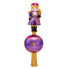 Christopher Radko Ornaments 2014 | Radko Nutcracker Finial Amethyst Guard Finial