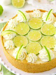 This Key Lime Pie Layer Cake is a delicious cake version of key lime pie! It's made with layers of key lime cake, key lime frosting & graham cracker crumbs! No Bake Key Lime Cheesecake Recipe, Cheesecake Recipes, Easy No Bake Desserts, Summer Desserts, Dessert Recipes, Delicious Desserts, Key Lime Flavor, Moist Vanilla Cupcakes, Key Lime Cake