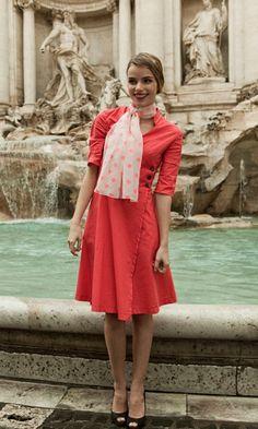 {Veni Vidi Vici dress} by Shabby Apple - love the coral colour & wrap style!