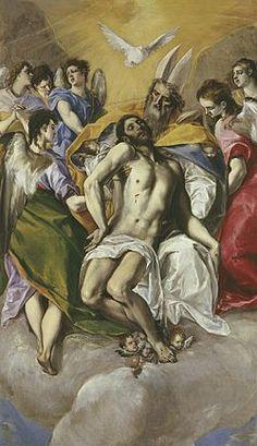 La Trinidad, es una obra de El Greco entre 1577 y 1580