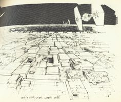 Deathstar from above - sketch (by Joe Johnston - concept artist and effects technician on #starwars)