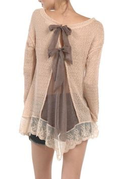 Lace Bow Top - main