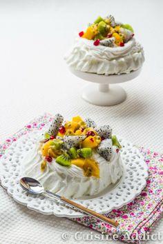 Pavlova Exotique / Exotic meringue Pavlova