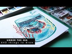 I restarted my challenge after drawing cats for 31 days straight and the prompt for this week is I really like this t. Speed Paint, Under The Sea, Gouache, Painting & Drawing, Underwater, Drawings, Illustration, Youtube, Under The Water
