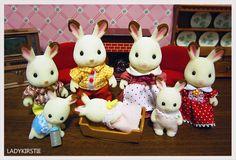 Sylvanian Families - Chocolate Rabbit Family :)