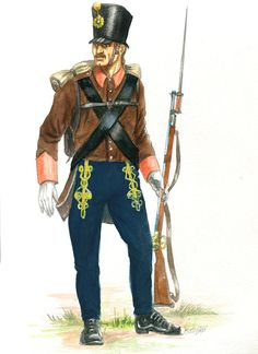 Austro - Hungarian border infantry Broder Regiment by Sedeslav First French Empire, Austrian Empire, Austro Hungarian, Army Uniform, Napoleonic Wars, World War I, Military History, Troops, Medieval