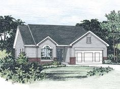 Cottage House Plan with 1292 Square Feet and 3 Bedrooms from Dream Home Source   House Plan Code DHSW21970