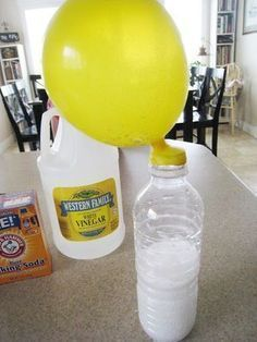 Self Inflating Balloon: Baking Soda and Vinegar Balloon Experiment - Teach Beside Me Balloon Science Experiments, Science Crafts, Science Fun, Science Ideas, Science Projects, Science Party, Stem Projects, Weird Science, Fair Projects