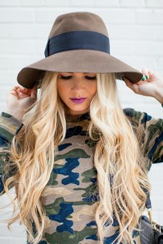 camo sweater + hat