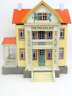 Gottschalk Red Roof Dollhouse, nice design with lots of detail. .....Rick Maccione-Dollhouse Builder www.dollhousemansions.com