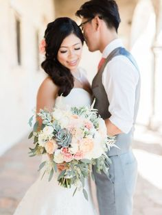 Image result for fall wedding bouquet white and eucalyptus and succulent