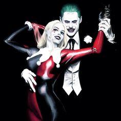 """longlivethebat-universe: """" Harley and Joker (Alex Ross inspired by art) by Tiago Da Trinti """" Heath Ledger Joker, Alex Ross, Buffy, Joker Frases, Joker Y Harley Quinn, Hearly Quinn, Der Joker, Dc Comics Art, Dc Movies"""