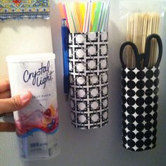 Wrapping paper, crystal light containers, and peel - n - stick magnets