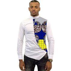 Shirt, Asymmetrical Men's African Shirts, Men Kitenge Dashiki Shirt, Slim Fit for Kshs. African Fashion Designers, African Men Fashion, Africa Fashion, African Fashion Dresses, African Wear, Ghanaian Fashion, African Women, Mens Fashion, African Style