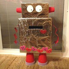 Brylen's robot Valentine box. :)