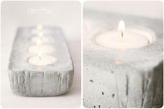 DIY: Concrete candle holder
