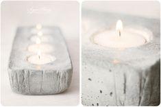 concrete candleholder