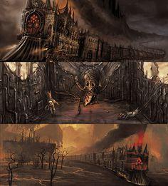 Train inside her mind. Dark Fantasy Art, Dark Art, Steampunk, Maladaptive Daydreaming, Alice Liddell, Alice Madness Returns, Fantasy Landscape, Tumblr, Macabre