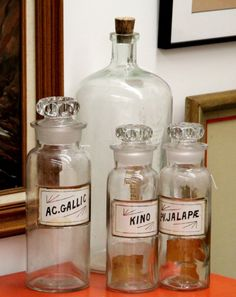 Antique Apothecary Jars. They just look pretty. Rest my case.