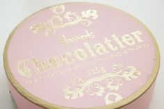 Harrods Chocolate in a pretty pink box Pink And Gold, Blush Pink, Pink Chocolate, Shabby, Everything Pink, Macaron, Retro, Truffles, Girly Things