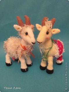 Amigurumi Goats Игрушка Мастер-класс Новый год Вязание крючком Козочки или Козлики? МК Пряжа фото 1 Use Google Translate