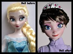 Doll Elsa turned into the Arendelle Queen