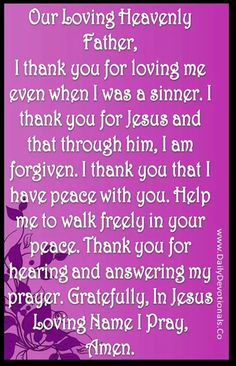 I thank you for loving me...