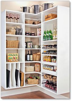Look how neat and organized this pantry is! You could find anything in here! #kitchenorganizing #pantries Custom Kitchen Pantries | Closets | Storage