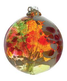$30Look at this #zulilyfind! Kitras Art Glass Fern Fairy Orb Ornament by Kitras Art Glass #zulilyfinds
