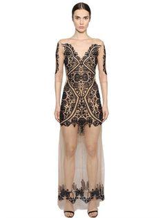 91b7f5d5db4 FOR LOVE   LEMONS Embroidered Tulle Dress