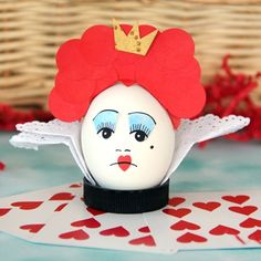 Disney Easter Crafts and Recipes - Look at this Red Queen Easter Egg from Alice and Wonderland