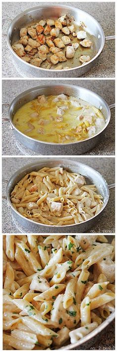 One Pan Chicken Alfredo..