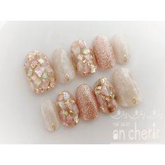 ネイル ネイル in 2020 Elegant Nail Art, Beautiful Nail Art, Gorgeous Nails, Pretty Nails, Cute Toe Nails, Cute Nail Art, Gel Nail Art, Asian Nails, Korean Nails